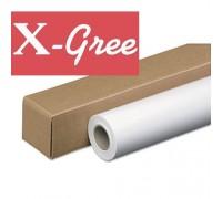 Фотобумага рулонная X-GREE RG260-36*30 Глянцевая микропористая на резиновой.основе (914мм*30м*50мм)