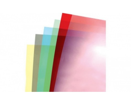 Обложка  ПВХ прозрачная глянец iBind А4/100/150mk  (20х5цветов )  прозр.,синий,красн,желтый,зел.