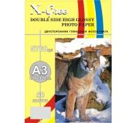 Фотобумага X-GREE 5H250DG-А3-50 Глянцевая Двухсторонняя А3/50/250гр (10)