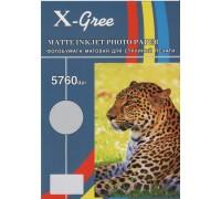 Фотобумага X-GREE MS128-A4-100 Матовая односторонняя  А4/100/128гр (20)