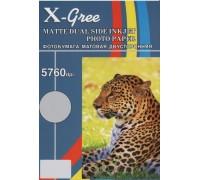Фотобумага X-GREE MD140-A4-50 Матовая Двухсторонняя  А4/50/140гр (28)