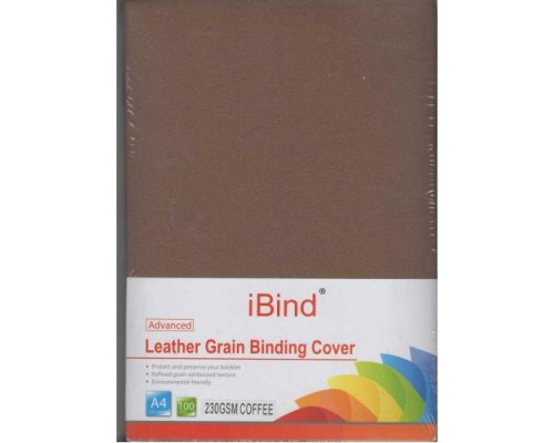 Обложка картон кожа ANTELOPE А4/100/230г  Coffee  (K08128)
