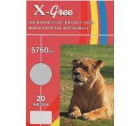 Фотобумага X-GREE RL260L-A3+-20 Глянцевая микропористая на рез..основе с БЛЕСКОМ A3+/20/260гр