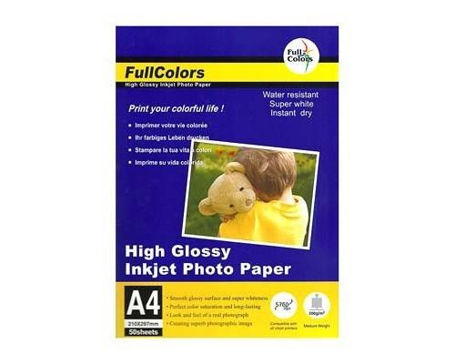 Фотобумага FullColors CGC200-A4*50 Глянцевая A4/50/200гр (24)
