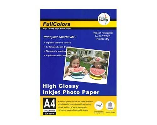 Фотобумага FullColors CGC240-A4*50 Глянцевая A4/50/240гр (20)