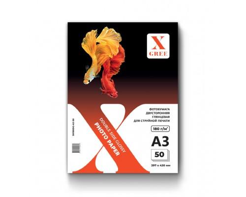 5H180DG-А3-50 Фотобумага для струйной печати X-GREE Глянцевая Двусторонняя A3*297x420мм/50л/180г NEW