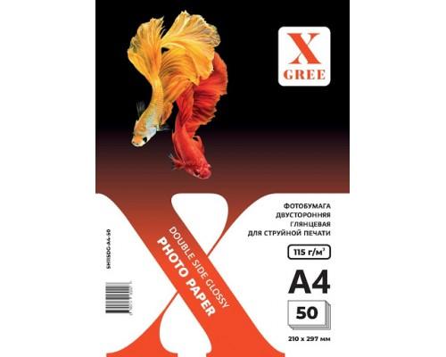 5H115DG-А4-50 Фотобумага для струйной печати X-GREE Глянцевая Двусторонняя A4*210x297мм/50л/115г NEW
