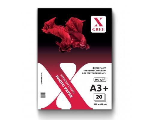 53W200-A3+-20 Фотобумага для струйной печати X-GREE Глянцевая Premium A3+*330x482мм/20л/200г NEW(25)